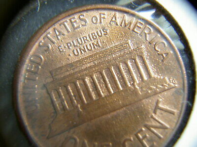 1988-D WIDE AM Lincoln Penny Cent - bubbles GREASE  Strike Thru On BOTH Sides