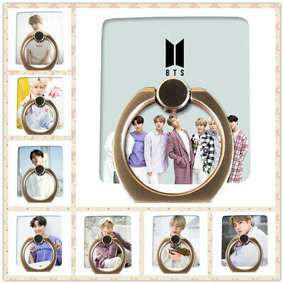 Kpop BTS Phone Stand Holder White Day Adjustable Finger Ring Grip Universal