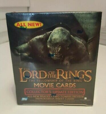 LOTR Fellowship of the Ring Update Edition Trading Cards Sealed Box (Topps 2002)