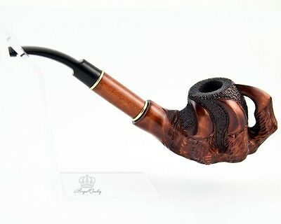 "Collection 3D Handcarved stylish smoking pipe for 9mm filter | pipes - 8"" (20cm)"