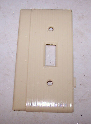 Vintage IVORY Single 1 Gang P&S UNILINE SWITCH COVER End Bakelite Ribbed ODD
