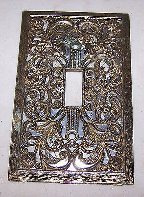 Vintage Mid Century Modern Metal SWITCH COVER Ornate