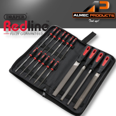Draper Engineers Hand/Needle File Tool Set with Black Canvas Carrying Case 16 Pc
