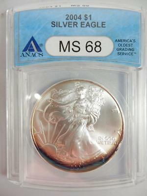 2005 American Silver Eagle, ANACS MS69, ASE S$1, FIRST STRIKE   #K12
