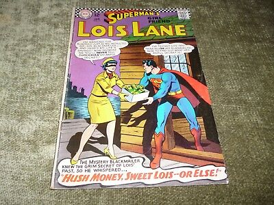Genuine Supermans Girl Friend Lois Lane DC Comic #71 Black Super Cat 1967