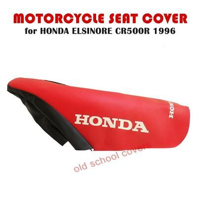 HONDA CR500 R ELSINORE 1996 MODEL RED/BLACK SEAT COVER with WHITE LOGOS