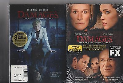 2 New Dvd Box Sets: Damages: The Complete First & Second Season: Glenn Close