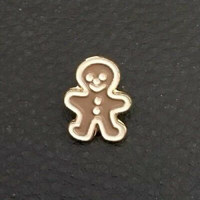 """⭐️ Vintage 5/8"""" Realistic Novelty Goofy Figural Metal Gingerbread Man Button"""