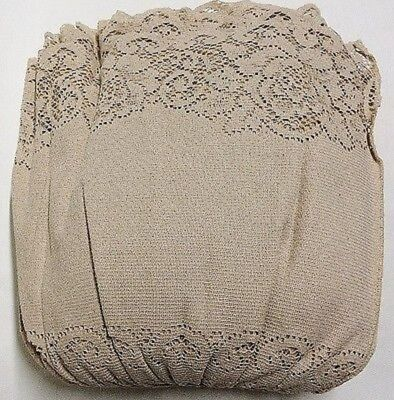 Organic Natural Brown Cotton Victorian Rose Full Lace Bed Ruffle Bed Skirt