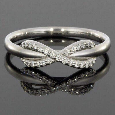 cbf822458 TIFFANY & CO White Gold Infinity Diamond Band Ring MSRP: $2,200 ...