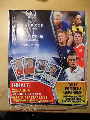 TOPPS-CHAMPIONS-LEAGUE 2016/17 KOMPLETT- Sticker Lose + LEERALBUM