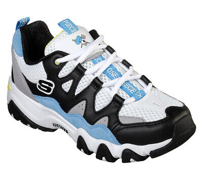 c81185d583a0 SKECHERS WOMENS WHITE Black Blue D Lites 2 One Piece Anime Manga Sanji  Trainers - EUR 72