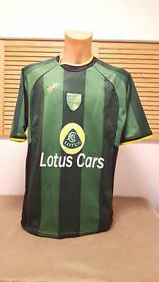 Norwich City Trikot Jersey Shirt Xara Camiseta XL Away Maglia Maillot Lotus Cars