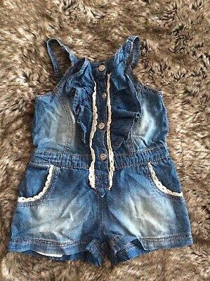 Girl's Denim Dungaree Outfit 2 Years