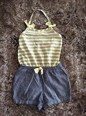 Emma's Gardens Grey & Yellow Dungaree Outfit 2-3 years