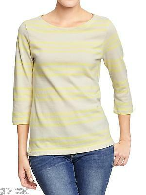 NWT OLD NAVY  BOAT NECK TEE 3//4 SLEEVE