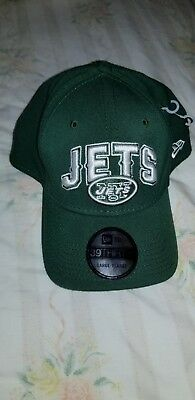 b320b5477 NEW YORK JETS NEW ERA 39THIRTY Fitted hat cap NFL Green NY Team Logo ...