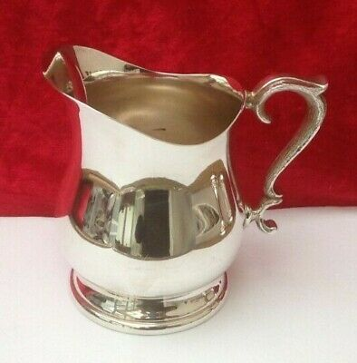 """Vintage - Water Jug With Ice Catcher ~ Elkington ~ Silver Plated - Size 5"""" Tall"""