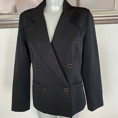 10d66b17738 CAbi Blazer Size 6 Style 987 Jacket Black Double Breasted Lined Career  Business