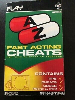PLAY Fast Acting Cheats for Your Playstation Problems for Sony Playstation 1/2