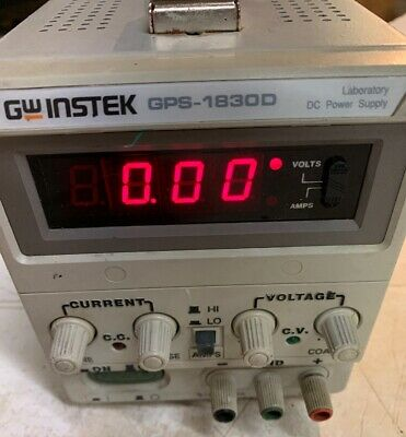 GW Instek GPS-1830D DC Laboratory Power Supply, 0-18V, 0-3A