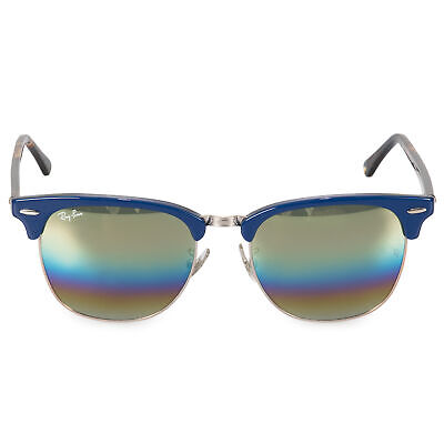 2d7cb0cae54c4 RAY-BAN CLUBMASTER MINERAL Flash Lens Sunglasses RB3016-F 1222C2 55 ...