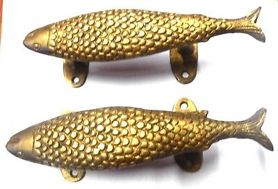 Fish Shape Handmade Brass Table Drawer Knobs Cabinet Pull Door Handle Home Decor