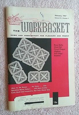 Vintage Workbasket Magazine Feb 1957 Needlecraft Knit Crochet Vintage Ads