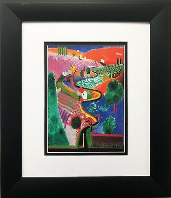 "David Hockney "" Nichols Canyon Road"" Pop Art New York British Colorful grand"