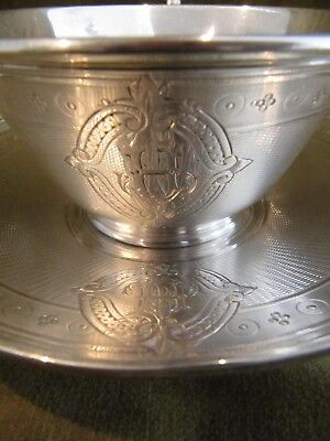 1900 french sterling guilloche silver tea cup Louis XVI St 209g 7,37oz