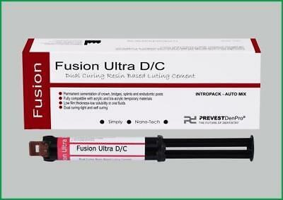 2pc Dental Permanent Light Curing Glass lonomer Composite Cement Fusion Ultra DC