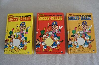 Lot 3 Albums Mickey-Parade 19-20-22 1982