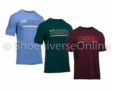 Men's Under Armour UA Wordmark Lockup Loose Fit T-Shirt Gym Fitness Casual
