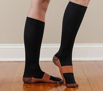 3 pair Miracle Copper Socks Anti Fatigue Compression Socks UNISEX XLarge