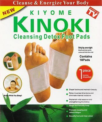 KINOKI 10 Cleansing Foot Pads Patches KINOKI *As Seen On TV..... KINOKI