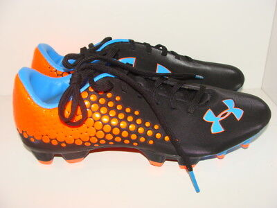 ef1c3a6c8 NEW UNDER ARMOUR Blur CBN IV FG Mens Soccer Cleats Neon / Navy ...