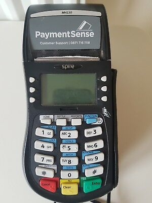 SPIRE M4230 chip pin card CARD PAYMENT machine + stand with power supply unteste
