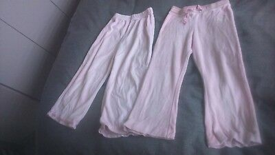 Girls x2 pairs trousers,no size but should fit 3-4yrs,used