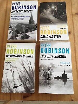 Peter Robinson Collection 4 Books Set New Dry Season, Gallows View, Innocent Wed