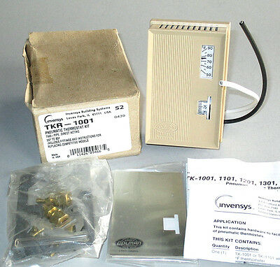Barber-Colman TKR-1001 TK-1001 Direct Acting Two Pipe Pneumatic Room Thermostat