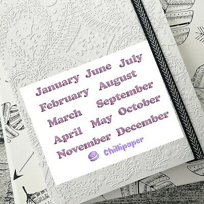 Watercolor, Months of the year, Headers, Journal, Stickers, Bujo Stickers #1037