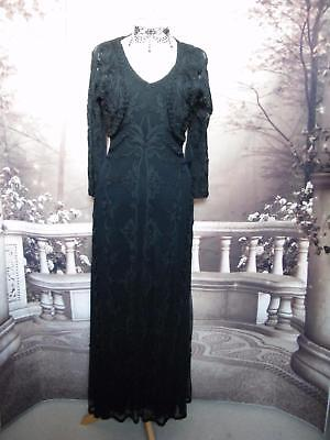Phase Eight Ballgown Dress and Bolero 10 Stretch Tapework Black Evening Beaded