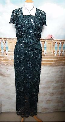 PHASE EIGHT Dress/Ballgown &Bolero 8/10 Beaded Lace Evening/Gatsby/Downton 1920s