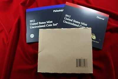 2012 United States Mint Uncirculated Coin Set, 28 Coins, P & D Mint Coins