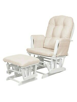 Kub Haywood Glider Nursing Chair and Footstool, White, in great condition.