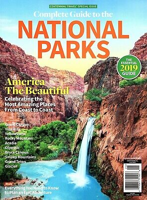 *SALE*  Essential 2019 COMPLETE GUIDE TO THE NATIONAL PARKS ~ Travel America NEW