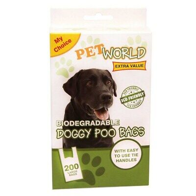 1200 Pet World Biodegradable Doggy Poo Bags Free Post
