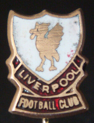 LIVERPOOL Vintage club crest type badge Maker REEVES B'ham Stick pin 11mm x 15mm