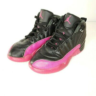 designer fashion b76b2 b18e1 Nike Air Jordan 12 Retro Kids GP Deadly Pink Black 510816-026 Size 3 Youth