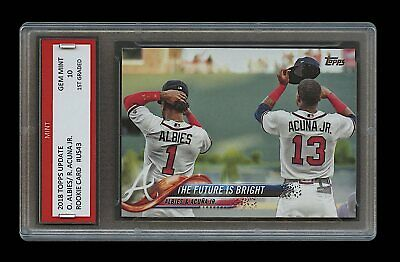 Ronald Acuna Jr/Ozzie Albies 2018 Topps Update 1St Graded 10 Rookie Card Braves